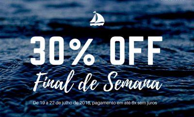 Final de semana de sol! Aproveite nossa promoção com 30% OFF e pagamento em 6 vezes!